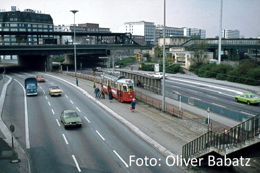 Straßenbahn am Berliner Tor
