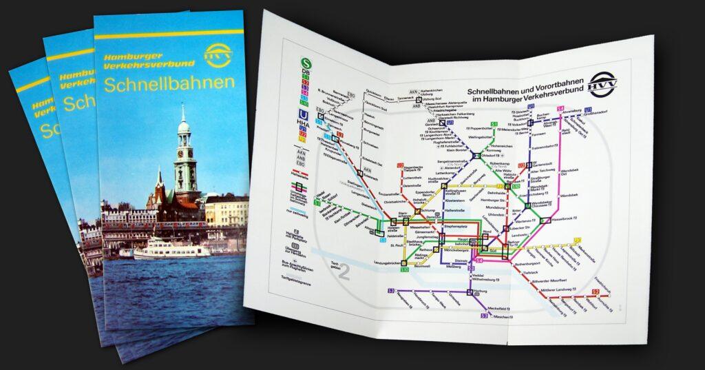 Schnellbahnnetzplan von 1975
